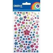 knutselset Create It - Flower Mix 150 stuks