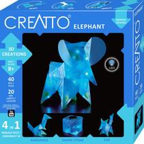 knutselset Creatto Olifant junior blauw 60-delig