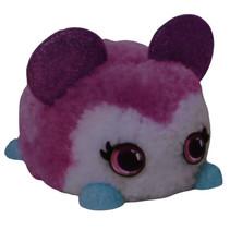 DIY-dier Fuzzy Fun junior 8 x 11 cm pluche paars/wit