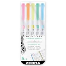 markers Mildliner Zebra junior 5 stuks