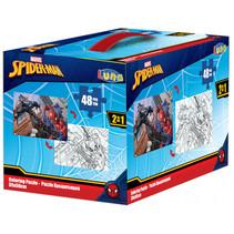 kleurpuzzel 2-in-1 Spider-Man meisjes 50 x 35 cm 4-delig