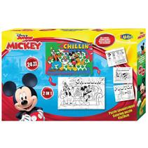 legpuzzel/kleurplaat Mickey Mouse karton 24 stuks