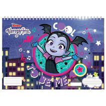 kleurboek Vampirina junior 33 cm papier blauw 3-delig