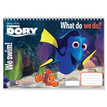 kleurboek Finding Dory junior 33 cm papier donkerblauw