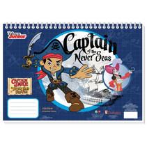 tekenboek Captain Jake jongens 33 cm papier donkerblauw