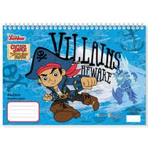 tekenboek Captain Jake jongens 33 cm papier lichtblauw