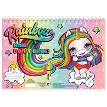 tekenboek Poopsie Rainbow meisjes 33 cm papier 3-delig