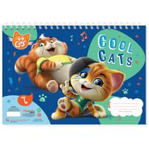 kleurboek 44 Cats meisjes 33 cm papier blauw 3-delig
