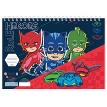 kleurboek PJ Masks jongens 33 cm papier blauw/rood