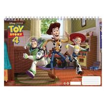 Toy Story 4 kleur- en stickerboek 23 x 33 cm blauw