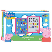 magneetbord Peppa Pig junior 30 cm roze/blauw/wit 37-delig