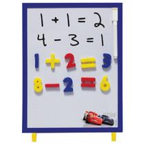 magneetbord Cars junior 30 cm wit/blauw 37-delig