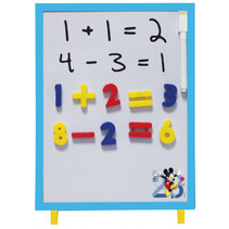 magneetbord Mickey Mouse junior 30 cm wit/blauw 37-delig