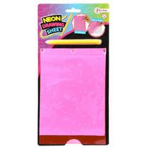 tekenset Neon junior roze 2-delig