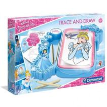 tekenset overtrekken Disney Princess blauw