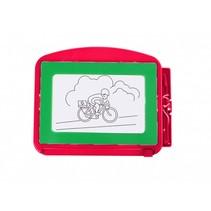 magnetisch tekenbord 18 x 14 cm rood/groen