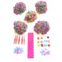 loombandsset Dots junior roze 5000-delig