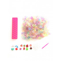 loombands glitter startersset roze 2400-delig