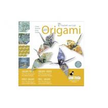 art origami Vincent van Gogh 15 x 15 cm 20 stuks multicolor