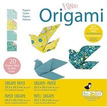 origami Duif vouwen 20 x 20 cm 20 stuks multicolor