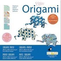 origami Olifant vouwen 20 x 20 cm 20 stuks multicolor