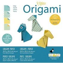 origami Hond vouwen 20 x 20 cm 20 stuks multicolor