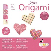 origami Hartjes vouwen 20 x 20 cm 20 stuks multicolor