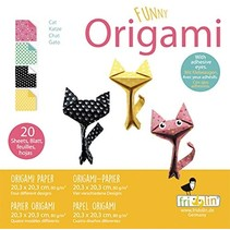 origami Katjes vouwen 20 x 20 cm 20 stuks multicolor
