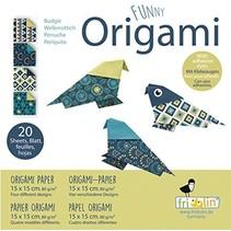 origami Parkiet vouwen 15 x 15 cm 20 stuks multicolor