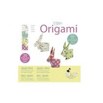 origami Haas vouwen 15 x 15 cm 20 stuks multicolor