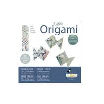 origami Vissen vouwen 15 x 15 cm 20 stuks multicolor