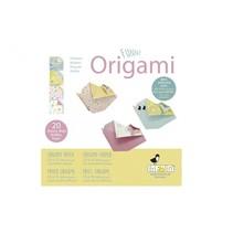 origami Kip vouwen 15 x 15 cm 20 stuks multicolor