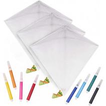 vlieger ontwerpen 65 cm polyester wit 11-delig