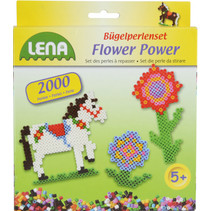 strijkkralenset Flower Power junior 2000 stuks