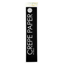 crêpepapier 250 x 50 cm zwart