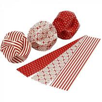 bouwset papieren ballen rood/wit 9 stuks