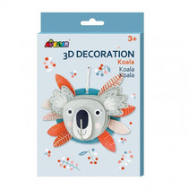 knutselset 3D koala junior karton grijs 5-delig
