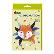 knutselset 3D vos junior karton bruin/wit 5-delig