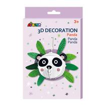 knutselset 3D panda junior karton wit/zwart 5-delig
