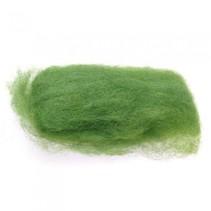 gekaarde wol 25 gram groen