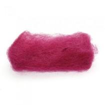 gekaarde wol 25 gram rood