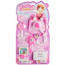 doktersset Girl 5-delig roze/wit