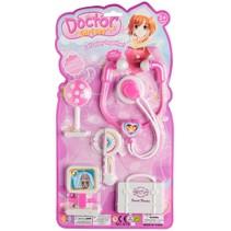 doktersset Girl 5-delig wit/roze
