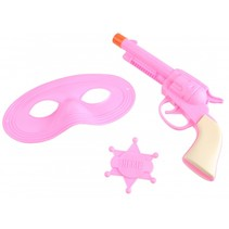 verkleedset cowgirl roze 3-delig