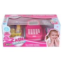 speelgoedkassa Cash met scanner 41 cm roze 21-delig