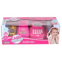 speelgoedkassa Cash met weegschaal 41 cm roze 21-delig