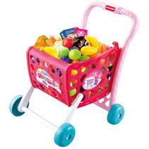 winkelwagen meisjes 47,5 x 38,8 cm roze 2-delig