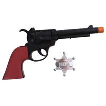 western cowboy pistool met badge 24 cm