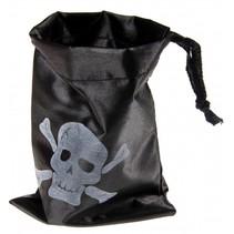 piratengeldzak 16 x 12,5 cm zwart