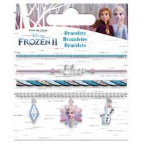 bedelarmbanden Frozen II meisjes RVS blauw 4 stuks